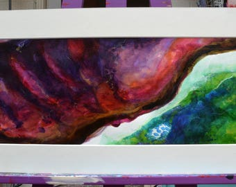 Purple Storm, was inspired by colours, shapes and textures.