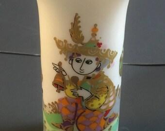 Mid Century Modern Miniature Rosenthal Studio Linie Bjorn Wiinblad Vase Music Commedia Dell 'Arte