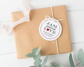 Jam packed with love tag (30) - Jam wedding favor - Wedding favor tag - Jam tag - Wedding gift tags - Jelly wedding favors