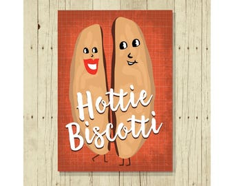 Hottie Biscotti Refrigerator Magnet, Funny, Cute Fridge, Gifts Under 10, Small Gift, For Her, For Him, Love, Romantic, Romance, Anniversary