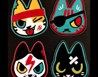 """Danger Cats """"3 Vinyl Stickers"""