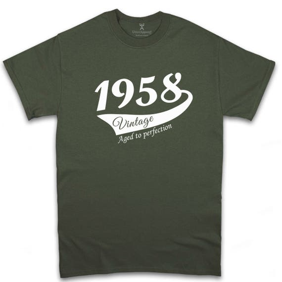 60th Birthday Gift For Man, Vintage (1958) T-shirt, Gift idea. More colors available S-2XL