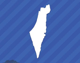 Israel State Outline Vinyl Decal Sticker