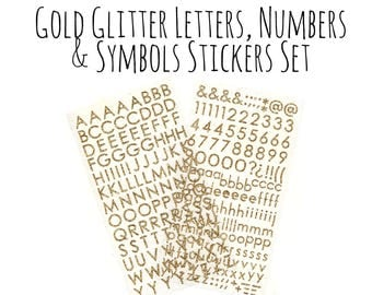 Bold Glitter Sticker Etsy - Custom glitter stickers