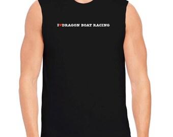 I Love Dragon Boat Racing Sleeveless T-Shirt