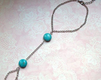 Anklet toe chain silver