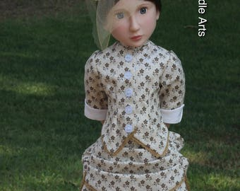 """American made Victorian Bustle Dress for 16"""" A Girl for All Time"""