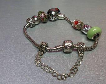 so red and green pandora bracelet