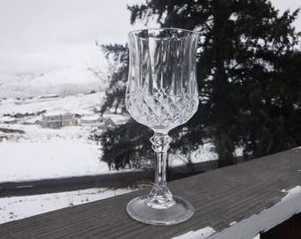 """Cristal d'Arques-Durand 'Longchamp' Water Goblet, 2-7/8"""" Diameter x 7-1/8"""" Tall"""