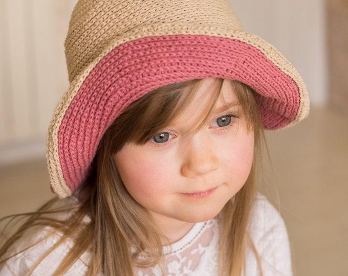 CROCHET PATTERN summer brimmed hat Samatha (baby/ toddler/ child/ woman sizes)