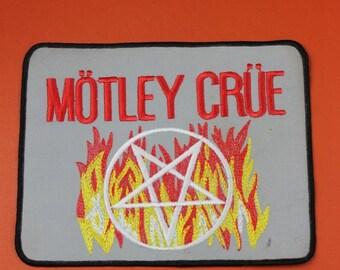 NOS Vintage 1980s Motley Crue Patch