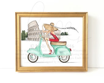 When in Rome (Fashion Illustration Print)
