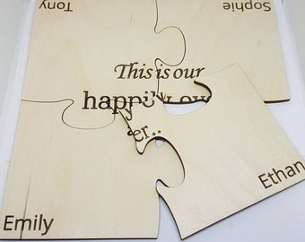 Happily Ever After- Puzzle Coasters - Birch Plywood 4mm