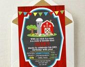 Farm Birthday Invitation / Farm Invite / Farm Birthday / Farmer Invitation / Oink Moo / Old McDonald Invitation / Farm Animals Invite