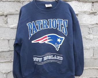 Vintage Sweatshirt 1990s Patriots Large Athletic Sports NFL New England Fan East Coast USA Memorabilia Champions