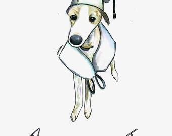 Custom Dog Line Drawing- Minimalist Line Drawing-Dog Owner Gift