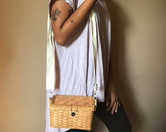 Hand Woven Basket Purse