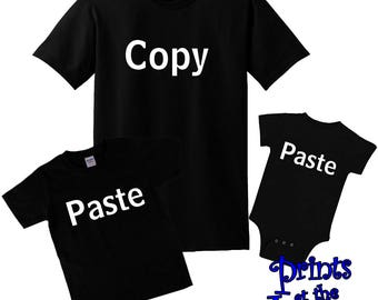 Copy Paste Shirts/Matching Father Son T-Shirts/Copy Paste Matching Shirts/Father Daughter Shirts/Matching Family Shirts/Dad To Be Gift