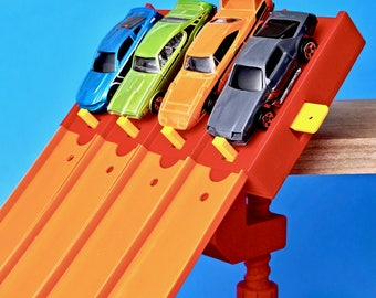 4-Lane Start Gate w/Clamp - (Compatible with Hot Wheels Race Track & Cars)
