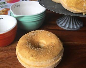 Apple Cider Donut Bath Bombs - Vegan Natural Bath Fizzy Doughnut