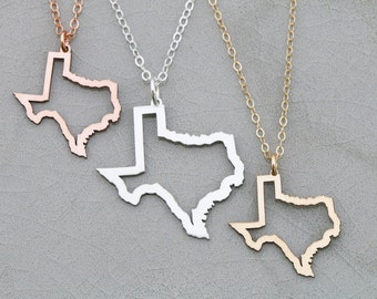 Single state necklace texas necklace tiny state charm qqq texas state necklace texas gold outline texas gift bridesmaid necklace friend gift jewelry texas charm mozeypictures Choice Image