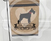 Schnauzer/Personalized Garden Flag/Dog Flag/Flag