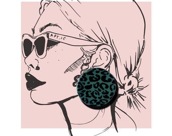 LEOPARD JUNGLE EARRINGS