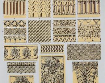 Owen Jones - The Grammar of Ornament - Stunning 1800s Lithograph - Nineveh & Persia (Iran) Art (P14)