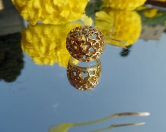 GOLD Filled Ring handmade jewelry flower ring, filigree ring lace ring women gold jewelry