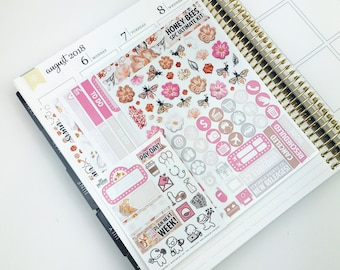 Honey Bees // Ultimate Weekly Planner Kit (280+ Planner Stickers)