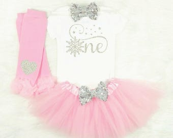 pink and silver onederland first birthday winter onderland first birthday outfit onederland first birthday outfit cake smash outfit