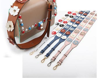 Bag Strap Genuine leather Removable Purse Strap Interchangeable Strap Replacement Handle Chain SS003