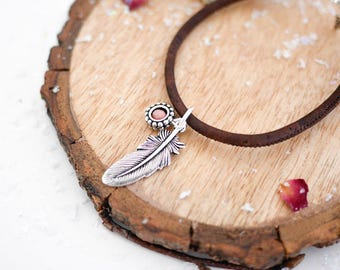Feather Vegan Bracelet • Silver charm jewellery, gift for her, navajo, boho, silver, native indian, nature, fly, christmas, jewelry, present