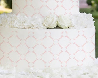 Cake Stencils- Simple Tile Pattern Stencil, Birthday Cake, Wedding Cake, Celebration Cake, Washable, Reusable, Dishwasher Safe, Food Safe
