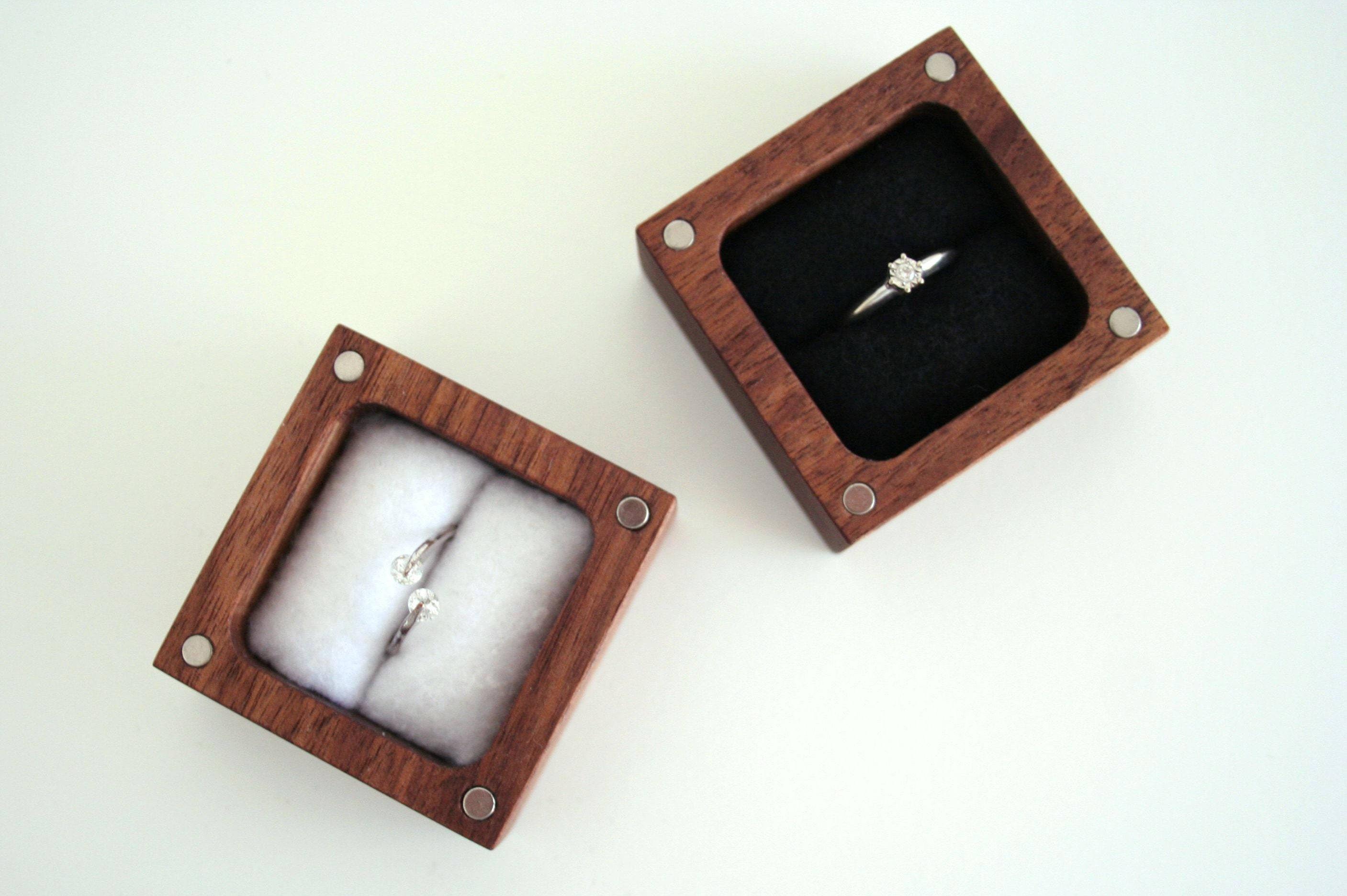 Engagement ring box ascetic design ring box for Custom engagement ring box