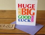 Good Luck Card, Graduation Card, Ballet Exam, Good Luck Wishes, New Job Card, Driving Test Card, Good Luck Cards, Exams Card, Grad Card