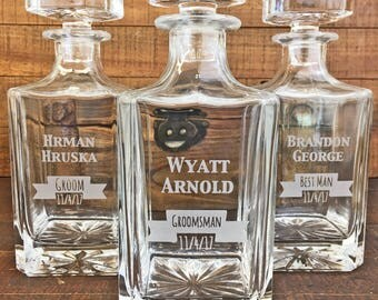 Unique Wedding Gift, Groomsmen Gifts, Best Man Gift, Personalized Decanter, Groom Gift, Groomsman Gift, Groom Gift from Bride