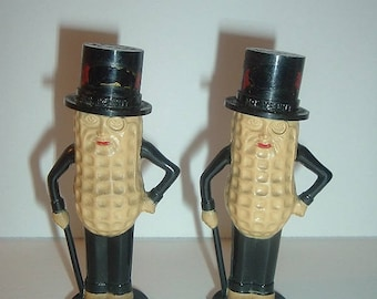 Vintage Planters Mr Peanut Souvenir Salt and Pepper Shakers