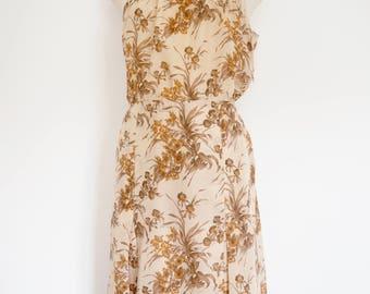 1950's Summer Silk Beach slip Dress.
