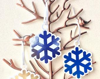 Foil Snowflake Christmas Gift Tag | Set of 10 |  Holiday Labels | Gifting | Present