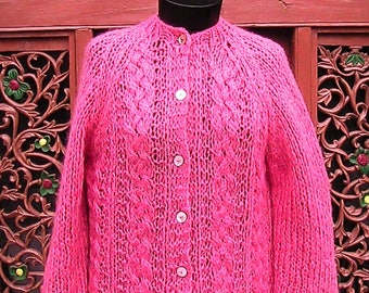 """Bust 36""""-40"""" Soft Mohair Cardican Sweater"""