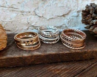 Name Ring, Wife Christmas Gift, Mom Christmas Gift, Wife Christmas Jewelry, Gift Christmas Wife, Dainty Personalized Ring, Boho Gift Sister