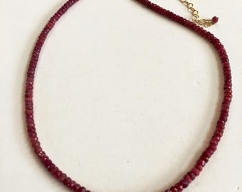 Ruby and Gold Necklace!