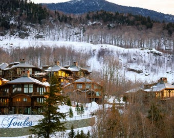 Stowe Mountain Homes ~ Stowe, Vermont, Skiing, Mountain, Snowboarding, Art, Artwork, Photograph, Joules, New England, Snow, Winter Scenes