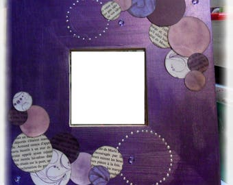 Square wooden scrappes customize mirrors