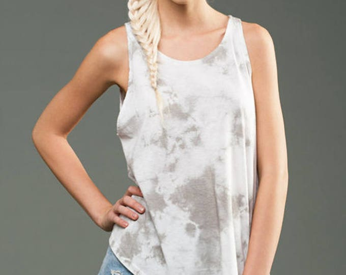 Wholesale Only - Jersey Marble Dye High High Neck Tank