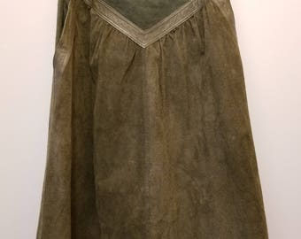 Genuine Leather REVERSIBLE Skirt with Pockets size M/L