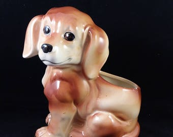 Patmar Ceramic Puppy Planter