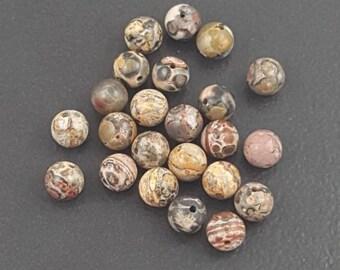 Leopard Jasper Beads, 6mm round, leopard jasper, 59 beads, brown jasper, brown beads, jewelry making, beading, small jasper beads, beads