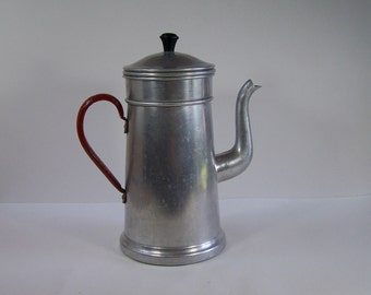 Aluminum coffee maker Lemeta retro filter coffee maker vintage  Made in  Germany